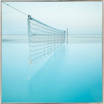 'Net at Pool' Photographic Print Format: Silver Metal Framed Paper