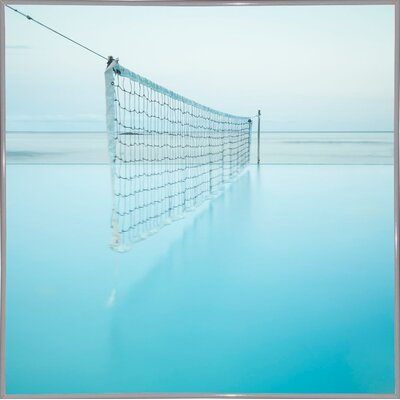 'Net at Pool' Photographic Print Format: White Metal Framed Paper