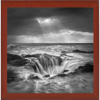 'The Hole 2' Graphic Art Print Format: Affordable Red Mahogany Medium Framed Paper, Size: 35.4
