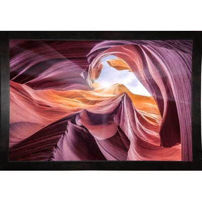 'Antelope Canyon 2 ' Graphic Art Print Format: Affordable Black Medium Framed Paper, Size: 28.3