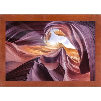 'Antelope Canyon 2 ' Graphic Art Print Format: Affordable Canadian Walnut Medium Framed Paper, Size: 28.3