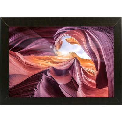 'Antelope Canyon 2 ' Graphic Art Print Format: Affordable Brazilian Walnut Medium Framed Paper, Size: 28.3
