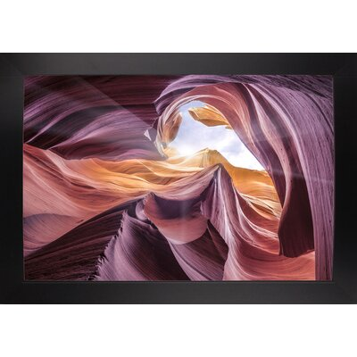 'Antelope Canyon 2 ' Graphic Art Print Format: Affordable Black Large Framed Paper, Size: 28.3