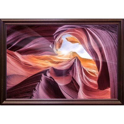 'Antelope Canyon 2 ' Graphic Art Print Format: Cherry Grande Framed Paper, Size: 28.3