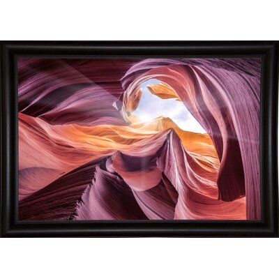 'Antelope Canyon 2 ' Graphic Art Print Format: Bistro Espresso Framed Paper, Size: 28.3