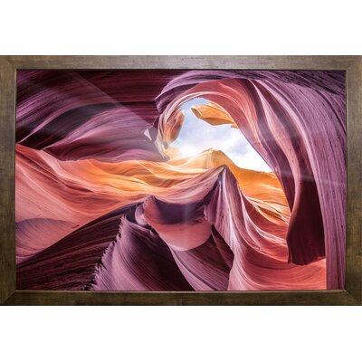 'Antelope Canyon 2 ' Graphic Art Print Format: Cafe Mocha Framed Paper, Size: 28.3