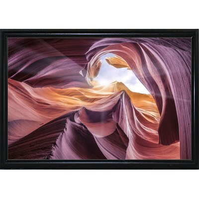 'Antelope Canyon 2 ' Graphic Art Print Format: Flat Back Metal Framed Paper, Size: 28.3