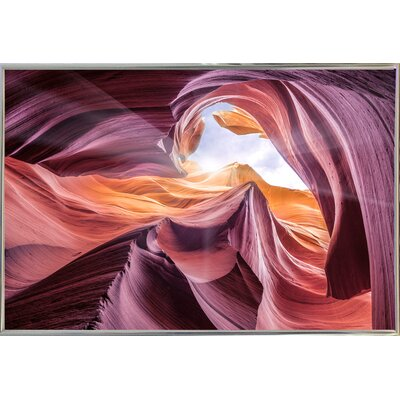 'Antelope Canyon 2 ' Graphic Art Print Format: Silver Metal Framed Paper, Size: 28.3