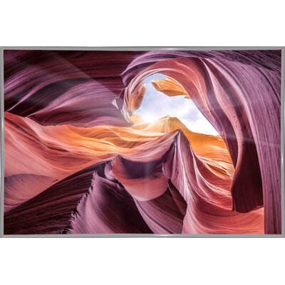 'Antelope Canyon 2 ' Graphic Art Print Format: White Metal Framed Paper, Size: 28.3