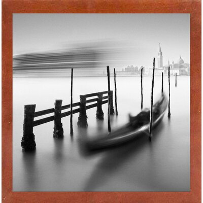 'Gondola And Cruice' Graphic Art Print Format: Affordable Canadian Walnut Medium Framed Paper