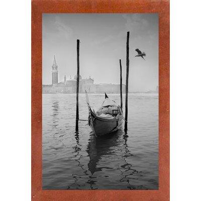 'Gondola Y Gaviota' Photographic Print Format: Affordable Canadian Walnut Medium Framed Paper, Size: 42.7