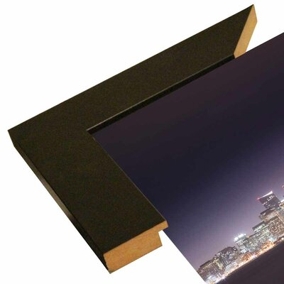 'San Fco And Moon' Photographic Print Format: Canvas Black Floater Frame, Size: 28.3