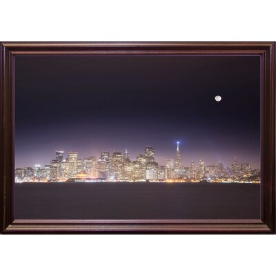 'San Fco And Moon' Photographic Print Format: Cherry Grande Framed Paper, Size: 28.3