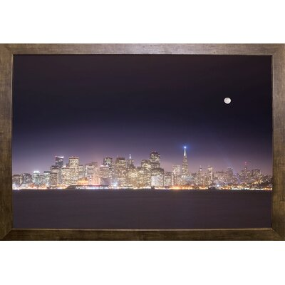 'San Fco And Moon' Photographic Print Format: Cafe Mocha Framed Paper, Size: 28.3
