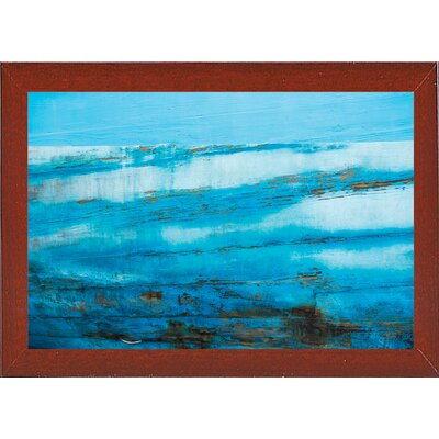 'Ship Textures 4' Graphic Art Print Format: Affordable Red Mahogany Medium Framed Paper, Size: 28.3