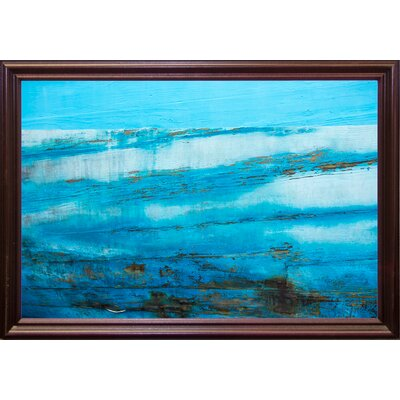 'Ship Textures 4' Graphic Art Print Format: Cherry Grande Framed Paper, Size: 28.3