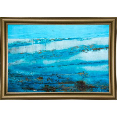 'Ship Textures 4' Graphic Art Print Format: Bistro Gold Framed Paper, Size: 28.3