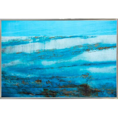 'Ship Textures 4' Graphic Art Print Format: Silver Metal Framed Paper, Size: 28.3