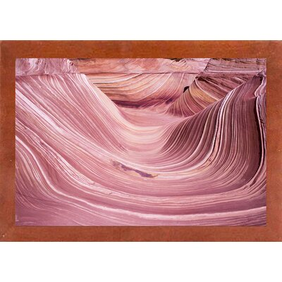 'The Small Wave' Graphic Art Print Format: Affordable Canadian Walnut Medium Framed Paper, Size: 28.3