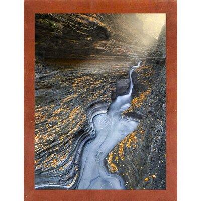 'Flow' Graphic Art Print Format: Affordable Canadian Walnut Medium Framed Paper