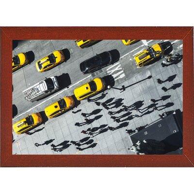 'Shadows' Photographic Print Format: Affordable Red Mahogany Medium Framed Paper