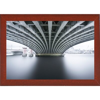 'Under 2' Photographic Print Format: Affordable Red Mahogany Medium Framed Paper, Size: 22