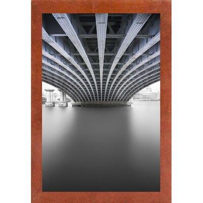 'Under' Graphic Art Print Format: Affordable Canadian Walnut Medium Framed Paper, Size: 33.1