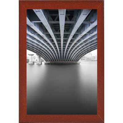 'Under' Graphic Art Print Format: Affordable Red Mahogany Medium Framed Paper, Size: 33.1