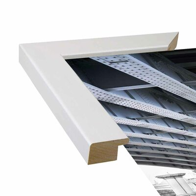 'Under' Graphic Art Print Format: Affordable White Medium Framed Paper, Size: 33.1