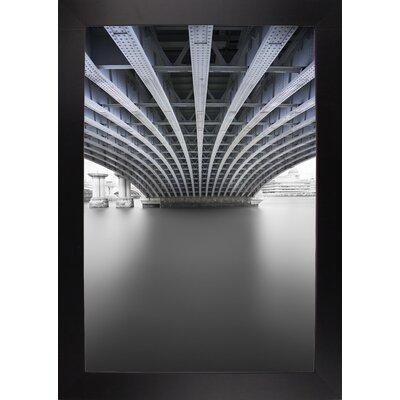 'Under' Graphic Art Print Format: Affordable Black Large Framed Paper, Size: 33.1