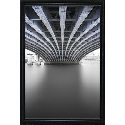 'Under' Graphic Art Print Format: Flat Back Metal Framed Paper, Size: 33.1