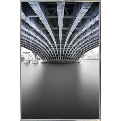 'Under' Graphic Art Print Format: Silver Metal Framed Paper, Size: 33.1