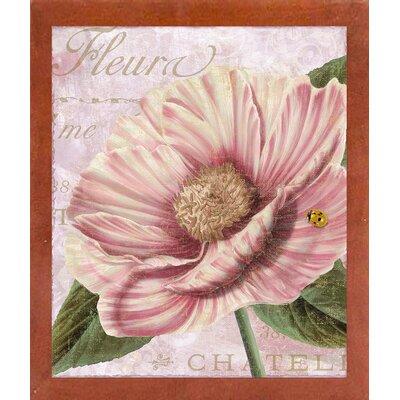 'April' Graphic Art Print Format: Affordable Canadian Walnut Medium Framed Paper