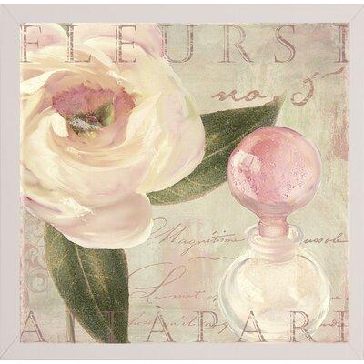 'Parfum de Roses I' Graphic Art Print Format: Affordable White Medium Framed Paper