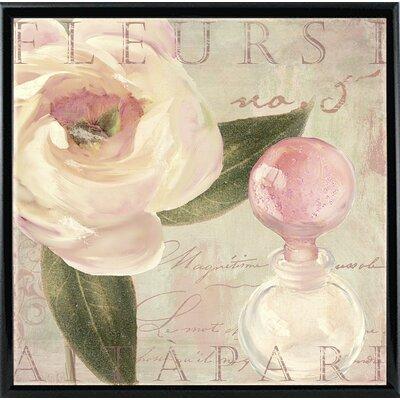 'Parfum de Roses I' Graphic Art Print Format: Black Metal Framed Paper