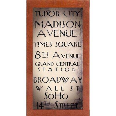 'New York City' Textual Art Format: Affordable Canadian Walnut Medium Framed Paper