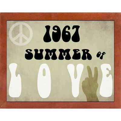 'Summer of Love' Textual Art Format: Affordable Canadian Walnut Medium Framed Paper