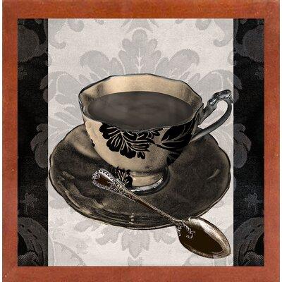 'Vintage Cafe IV' Graphic Art Print Format: Affordable Canadian Walnut Medium Framed Paper