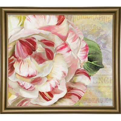 'Camellias II' Graphic Art Print Format: Bistro Gold Framed