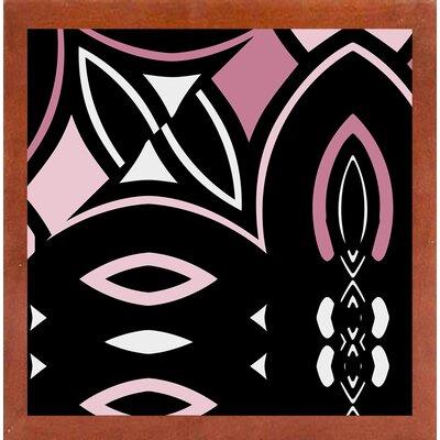 'Daring Deco IV' Graphic Art Print Format: Canadian Walnut Medium Framed