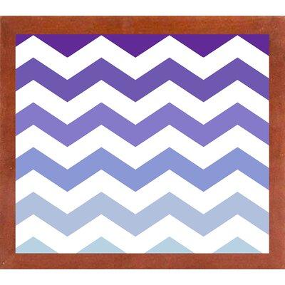 'Purple-Blue Chevron' Graphic Art Print Format: Canadian Walnut Medium Framed