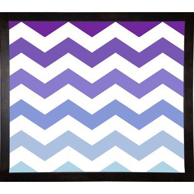 'Purple-Blue Chevron' Graphic Art Print Format: Cafe Espresso Framed