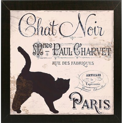 'Les Chats II' Graphic Art Print Format: Brazilian Walnut Medium Framed