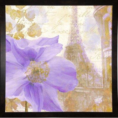 'Purple Paris II' Graphic Art Print Format: Black Medium Framed