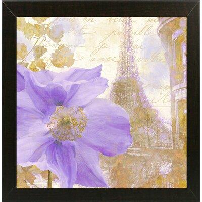 'Purple Paris II' Graphic Art Print Format: Brazilian Walnut Medium Framed