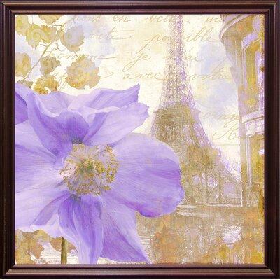 'Purple Paris II' Graphic Art Print Format: Cherry Grande Framed