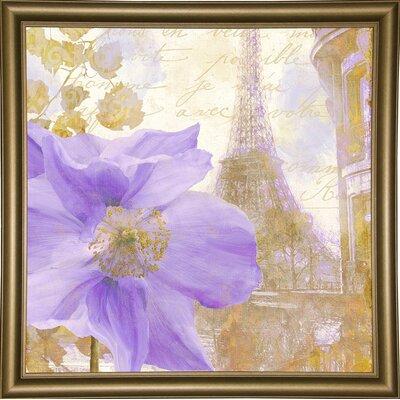 'Purple Paris II' Graphic Art Print Format: Bistro Gold Framed