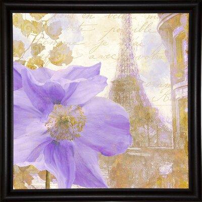 'Purple Paris II' Graphic Art Print Format: Bistro Expresso Framed