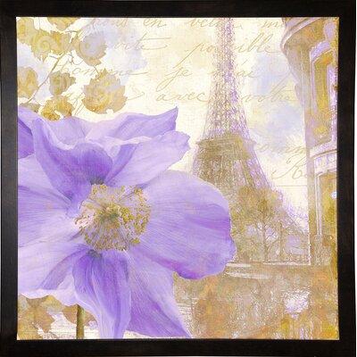 'Purple Paris II' Graphic Art Print Format: Cafe Espresso Framed