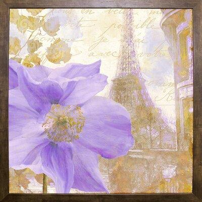 'Purple Paris II' Graphic Art Print Format: Cafe Mocha Framed